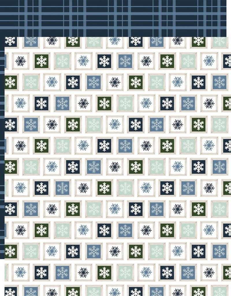 Carta Bella 12 x 12 Decorative Paper Sparkling Snow
