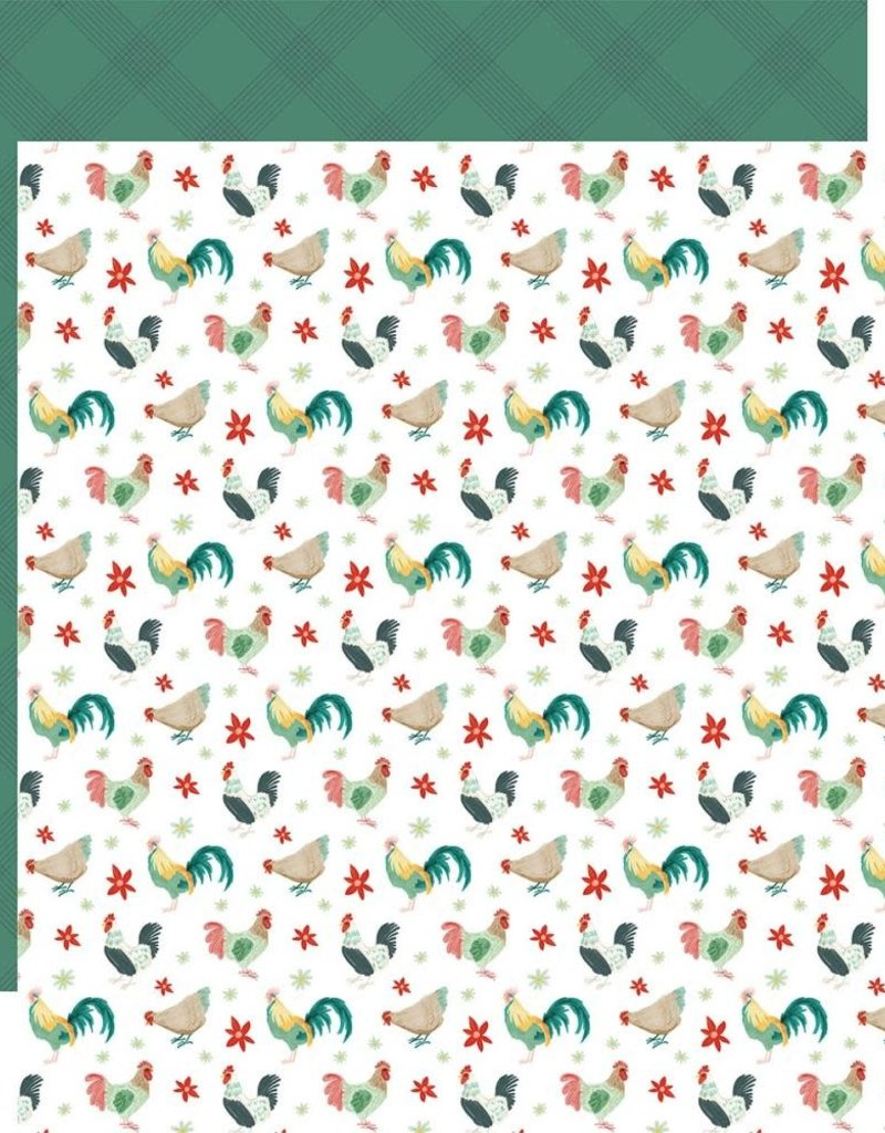 Carta Bella 12 x 12 Decorative Paper Red Rooster