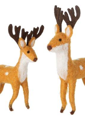 Silver Tree Holiday Felt Reindeer
