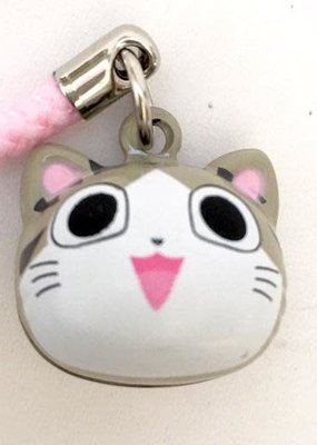 Bell Charm Grey Cat