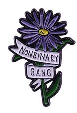 collage Enamel Pin Nonbinary Gang