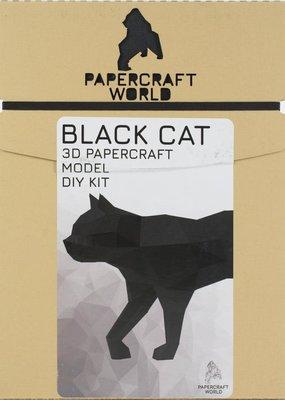 Papercraft World 3D Papercraft Model Black Cat