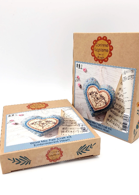 Corinne Lapierre Limited Felt Craft Mini Kit Embroidered Heart