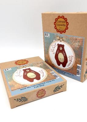 Corinne Lapierre Limited Felt Craft Mini Kit Folk Bear Appliqué