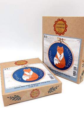 Corinne Lapierre Limited Felt Craft Mini Kit Folk Fox Appliqué