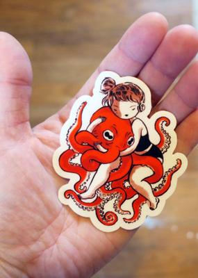 Stasia Burrington Sticker  Octopus Hug