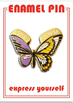 The Found Enamel Pin Non-Binary  Butterfly