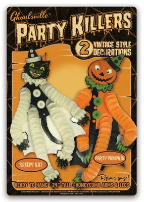 Retro-a-go-go Party Killers Kreepy Kat & Party Pumpkin