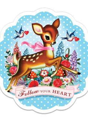 Retro-a-go-go Vinyl Sticker Follow Your Heart