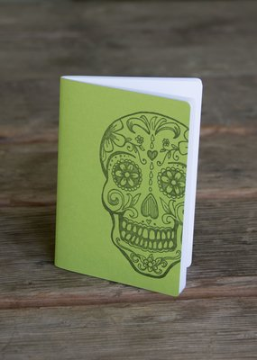 Ladybug Press Sugar Skull Notebook Lime