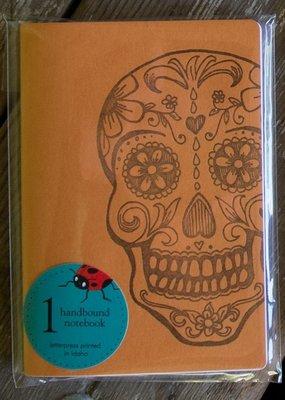 Ladybug Press Sugar Skull Notebook Orange