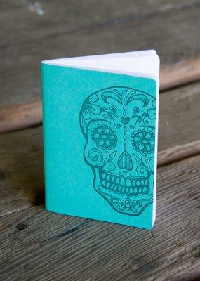 Ladybug Press Sugar Skull Notebook Teal