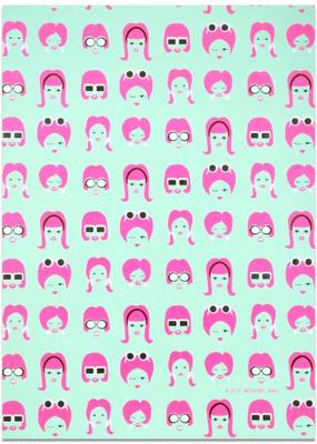 Midori Wrap Sheet 60's Mod Face