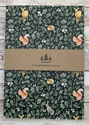 Samantha Hall Designs Notebook Woodland Animals