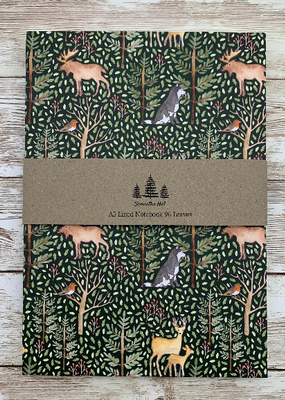 Samantha Hall Designs Notebook Animals of The Forest