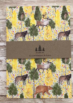 Samantha Hall Designs Notebook Animals of Lapland