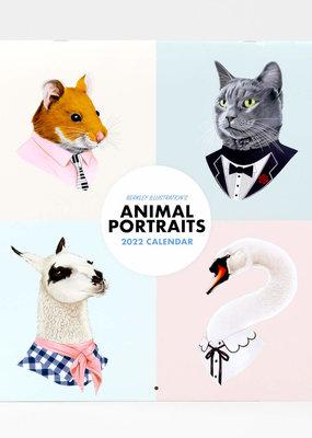 Berkley Illustration 2022 Wall Calendar Animal Portraits