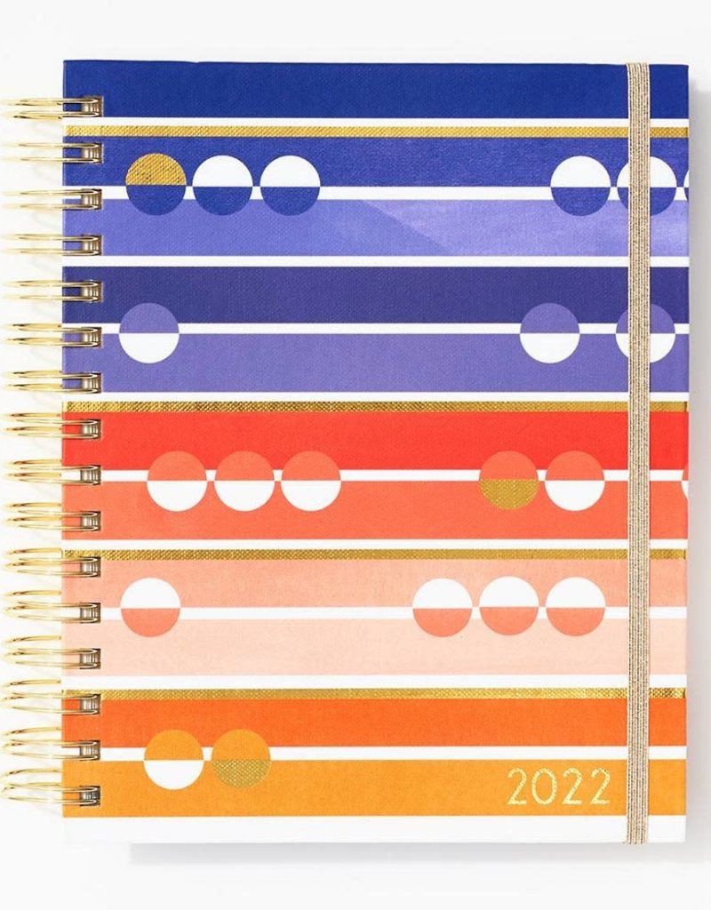 Waste Not 2022 Bright Stripe Page A Day Planner