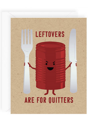 Waste Not Card Leftovers Are For Quitters