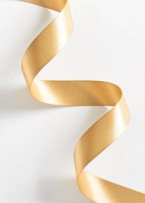 Waste Not Satin Ribbon 1 Inch Vintage Gold
