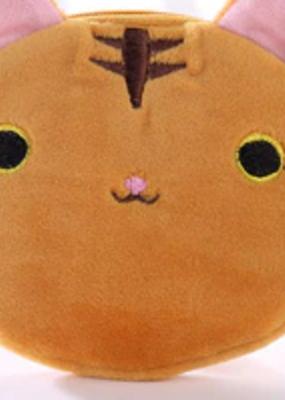 collage Plush Keychain Orange Cat