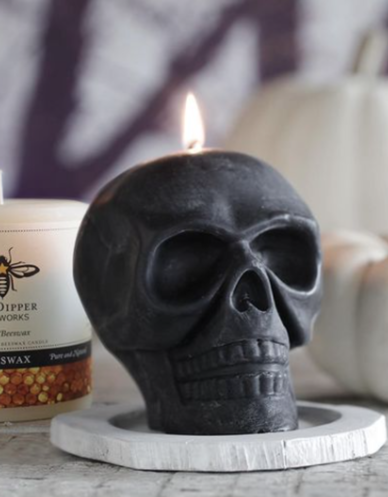 Big Dipper Wax Works Black Skull Candle