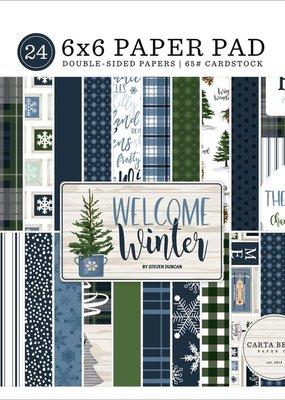 Carta Bella 6 x 6 Decorative Paper Pad Welcome Winter