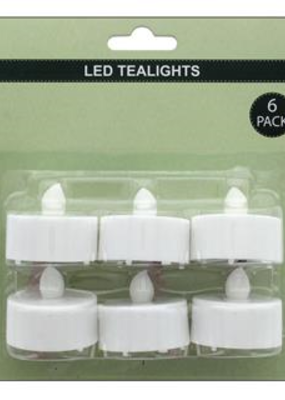 Sierra Pacific Crafts Tealight LED Flameless Votive With Flicker 6pc