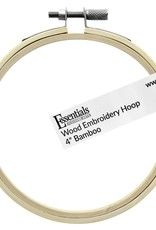 """Leisure Arts Bamboo Embroidery Hoop 4"""""""