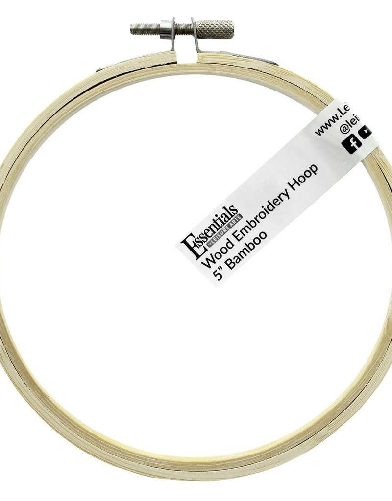 """Leisure Arts Bamboo Embroidery Hoop 5"""""""