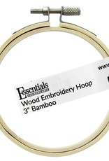 """Leisure Arts Bamboo Embroidery Hoop 3"""""""