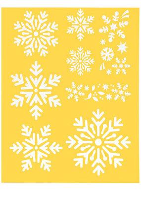 Darice Snowflakes Stencil 8.5 x 11 Inch