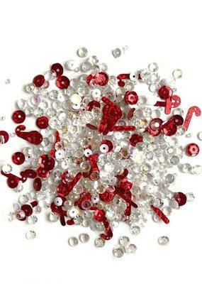 Buttons Galore Sparkletz Peppermint Stix