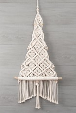Solid Oak Christmas Tree Macramé Wall Hanging Kit