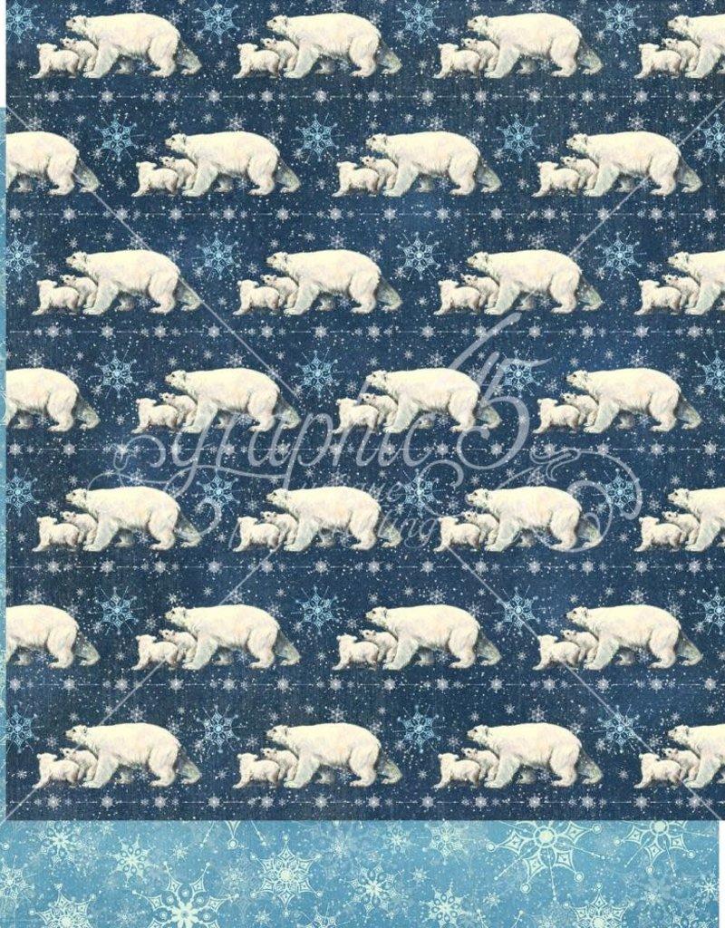 Graphic 45 12 X 12 Decorative Paper Polar Bear Prance