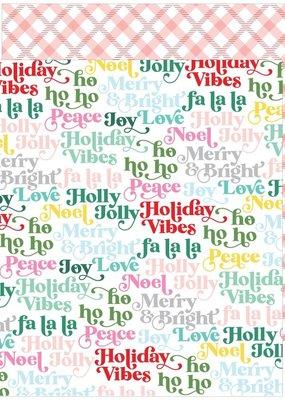 Pinkfresh 12 X 12 Decorative Paper Holly Jolly