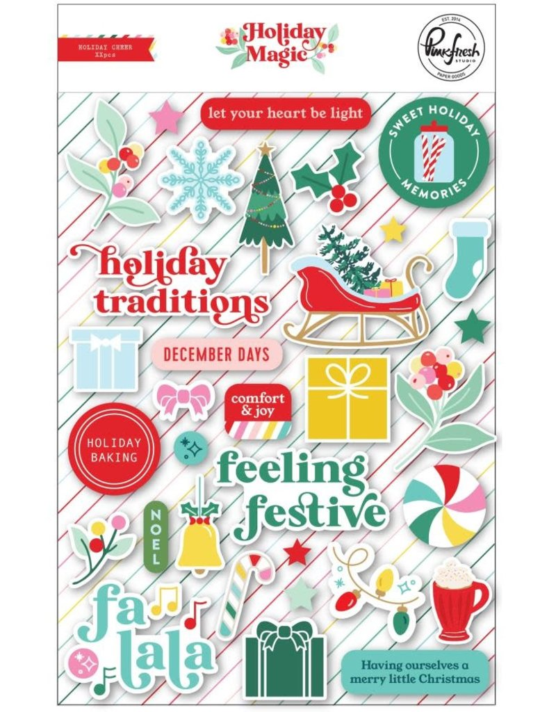Pinkfresh Puffy Stickers Holiday Magic