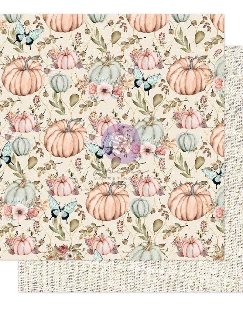 Prima Marketing 12 X 12 Decorative Paper Happy Fall Foil