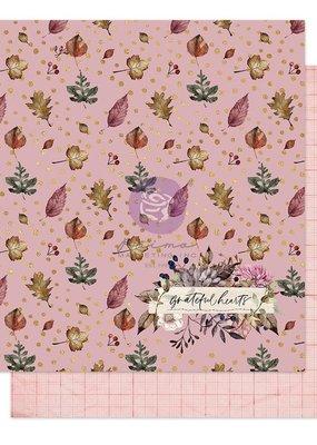 Prima Marketing 12 X 12 Decorative Paper Happy Grateful Hearts Foil