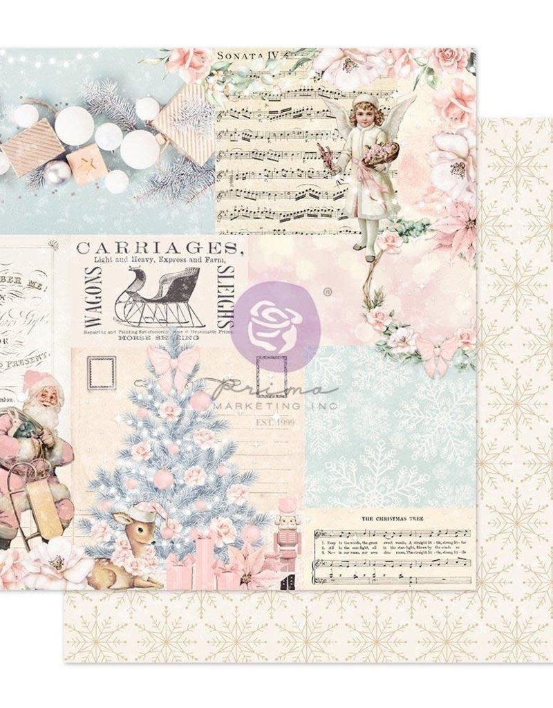 Prima Marketing 12 X 12 Decorative Paper Icy Blue Christmas Foil