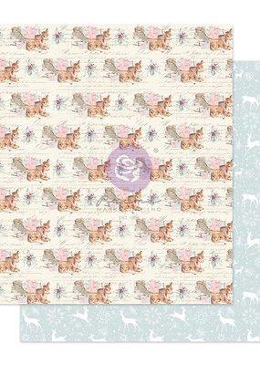 Prima Marketing 12 X 12 Decorative Paper December Carols Foil