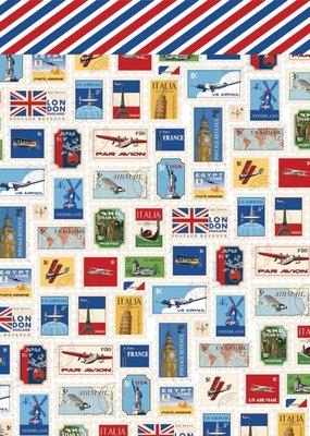 Carta Bella 12 x 12 Decorative Paper World Stamps