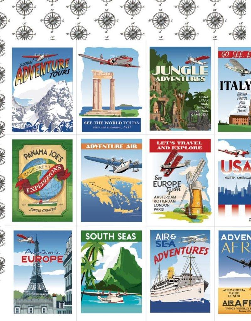 Carta Bella 12 x 12 Decorative Paper Travel Posters