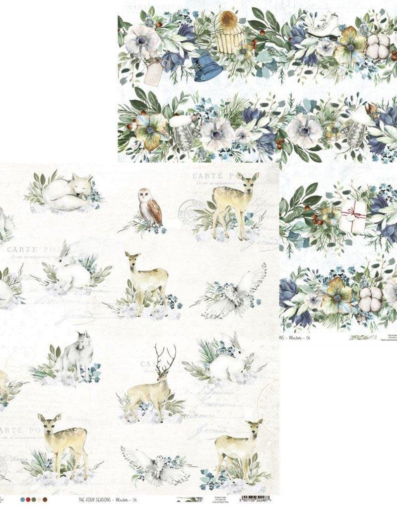 P13 12 X 12 Decorative Paper Winter