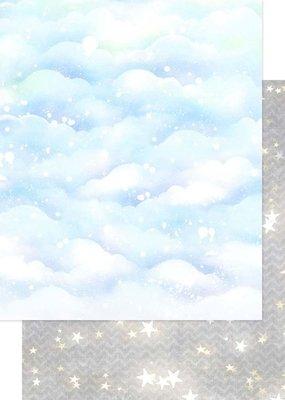 Asuka Studio 12 x 12 Decorative Paper Sparkly Sky Silver