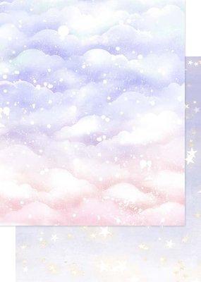 Asuka Studio 12 x 12 Decorative Paper Sparkly Sky Lavender