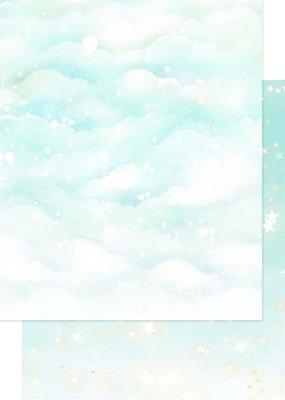 Asuka Studio 12 x 12 Decorative Paper Sparkly Sky Mint