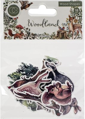 Craft Consortium Wooden Woodland Shapes