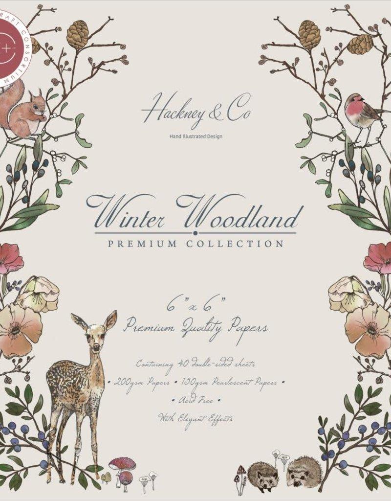 Craft Consortium 6 x 6 Winter Woodland Paper Pad