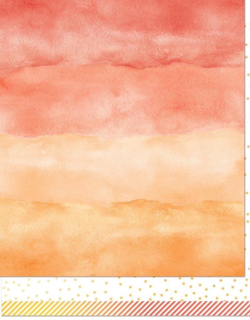 12 x 12 Decorative Paper Watercolor Wishes Carnelian